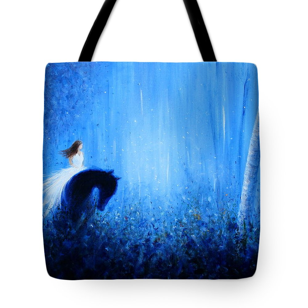 Dream Tote Bag featuring the painting Maybe A Dream by Kume Bryant