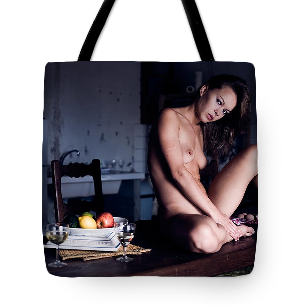 Sensual Tote Bag featuring the photograph Maybe Or Maybe Not by Olivier De Rycke
