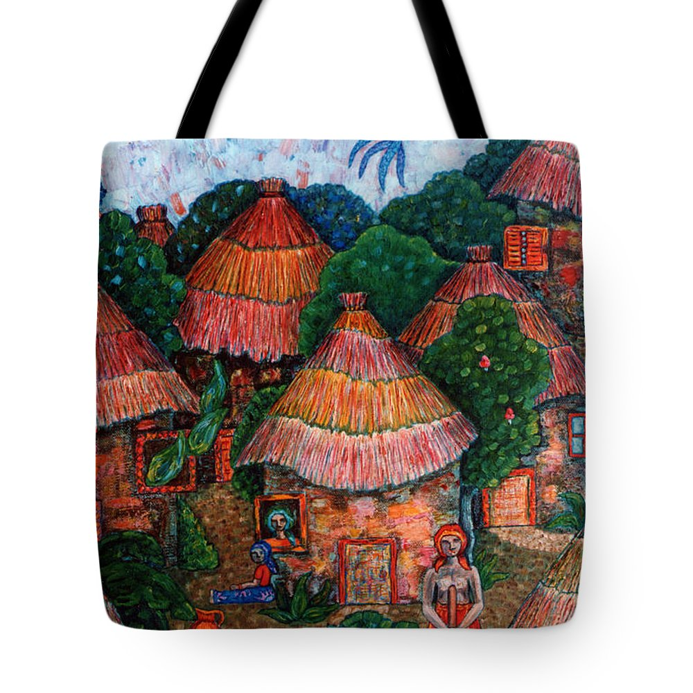 Africa Tote Bag featuring the painting Maybe That Was My Country by Madalena Lobao-Tello