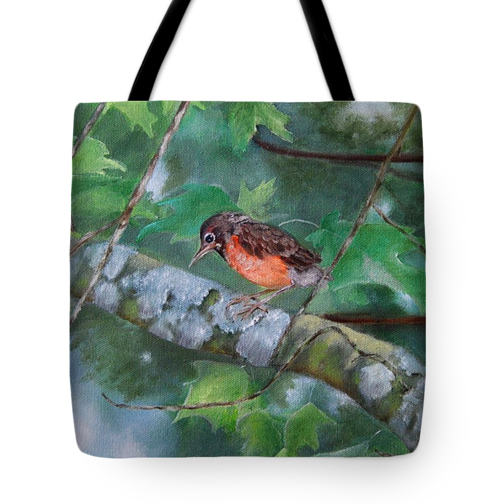 Fledgling Tote Bag featuring the painting Maybe Tomorrow by Mary Hughes