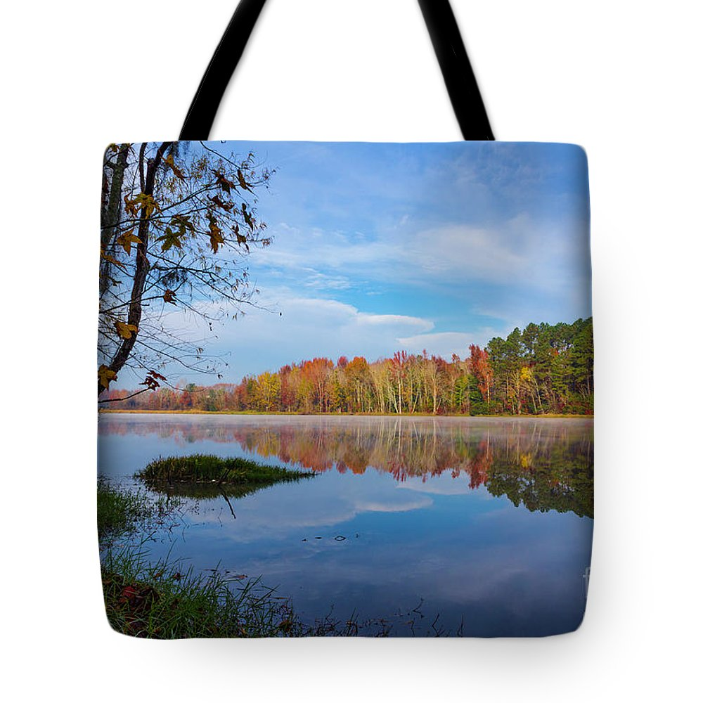 2017 Tote Bag featuring the photograph Mayor's Pond, Autumn, #1 by Gregory Schultz
