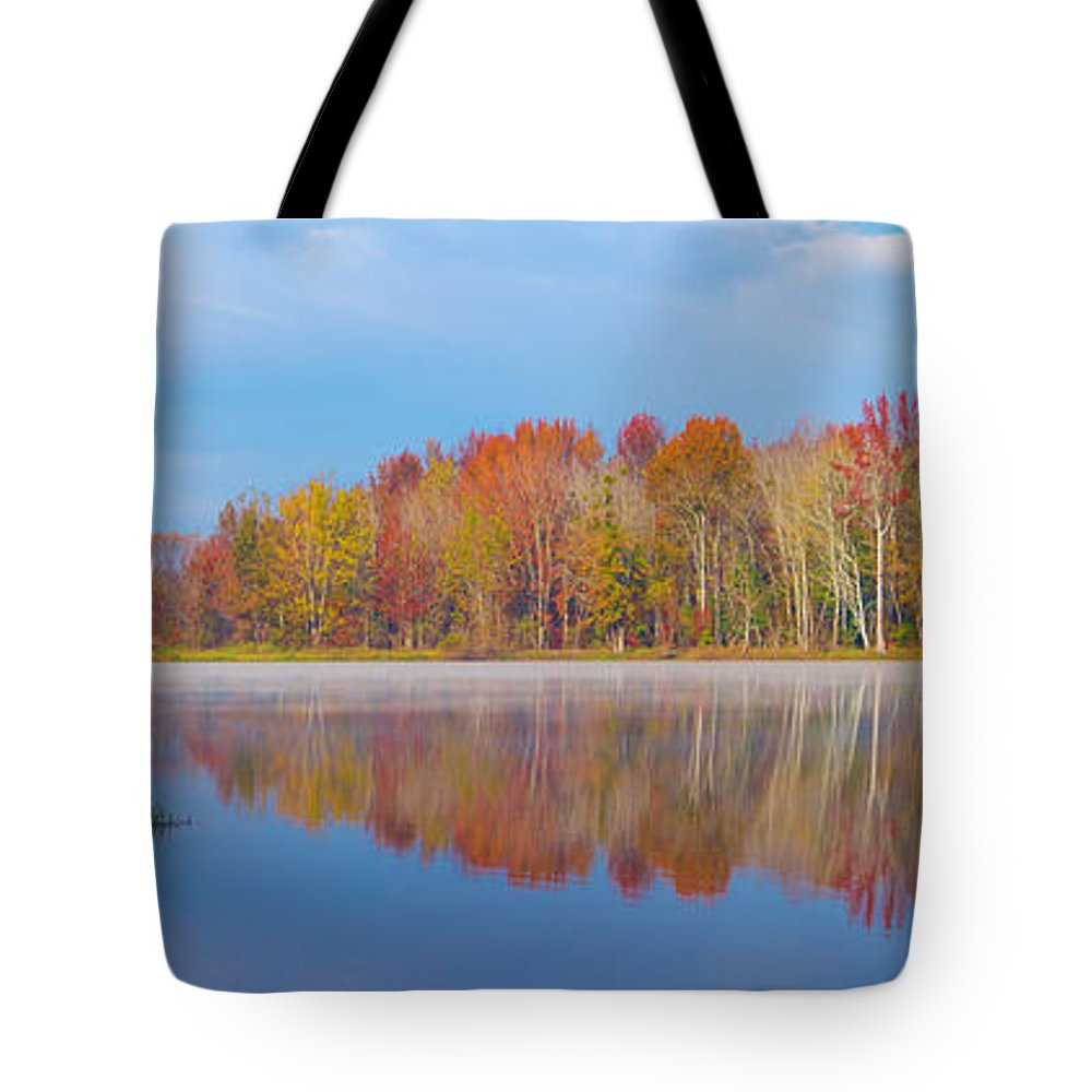 2017 Tote Bag featuring the photograph Mayor's Pond, Autumn, #2 by Gregory Schultz