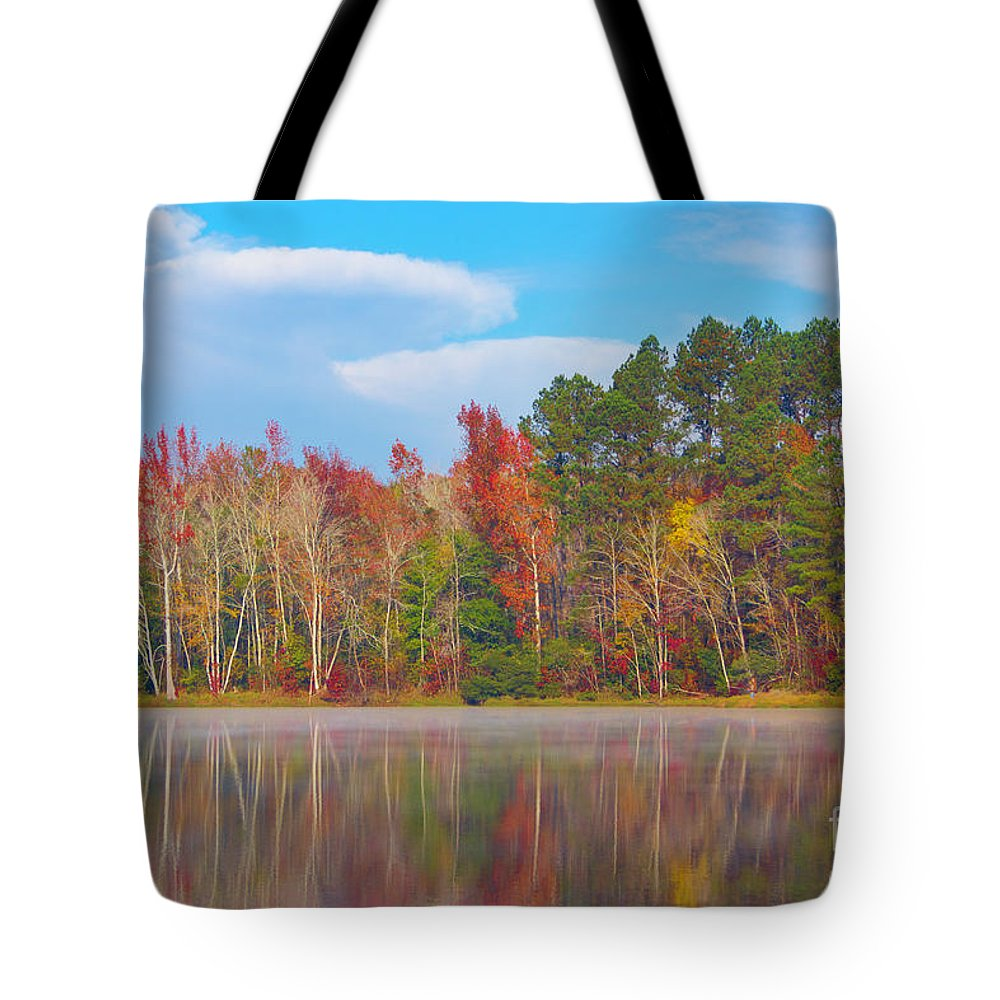 2017 Tote Bag featuring the photograph Mayor's Pond, Autumn, #4 by Gregory Schultz