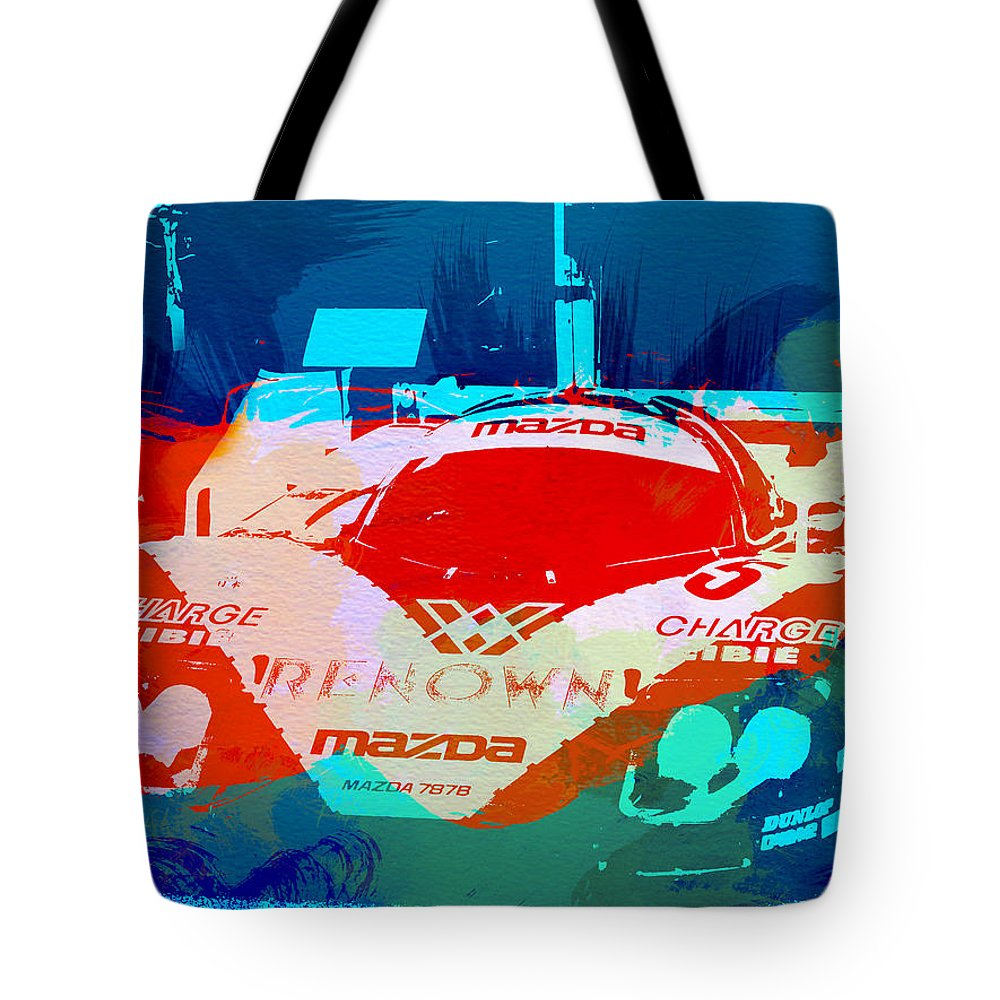 Mazda Tote Bag featuring the painting Mazda Le Mans by Naxart Studio