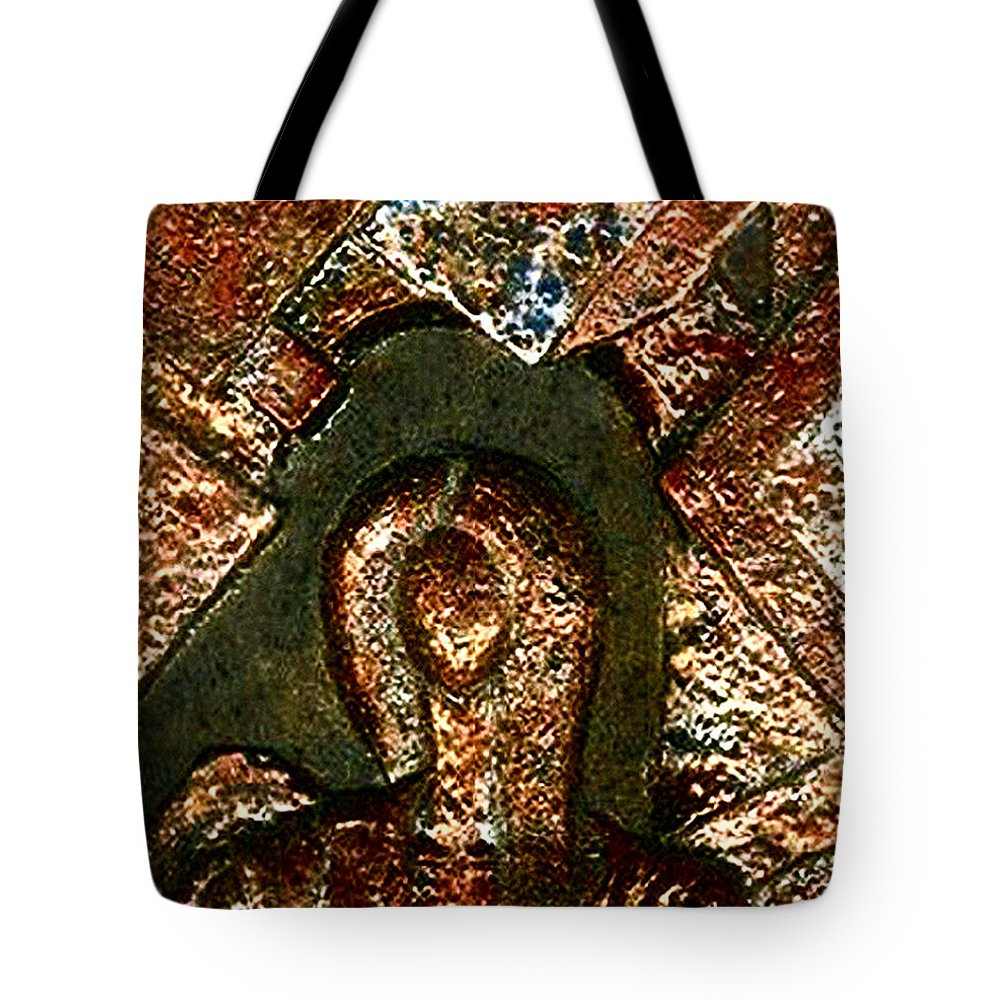 Ceramic Tote Bag featuring the relief Maze Of Memories by Madalena Lobao-Tello