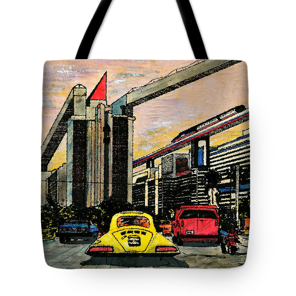 Miami Tote Bag featuring the mixed media Mb2210 by Jorge Delara