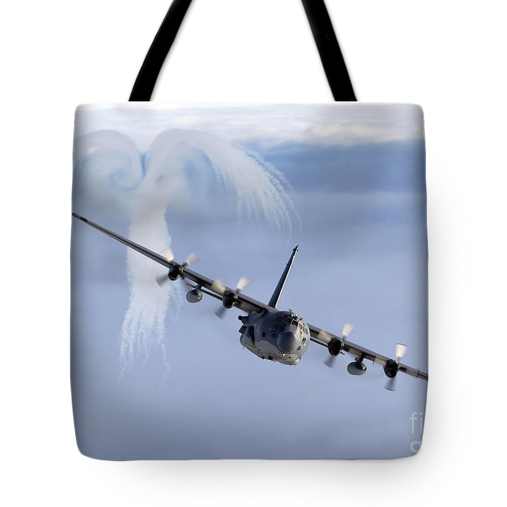 Mc-130 Tote Bag featuring the photograph Mc-130h Combat Talon by Gert Kromhout