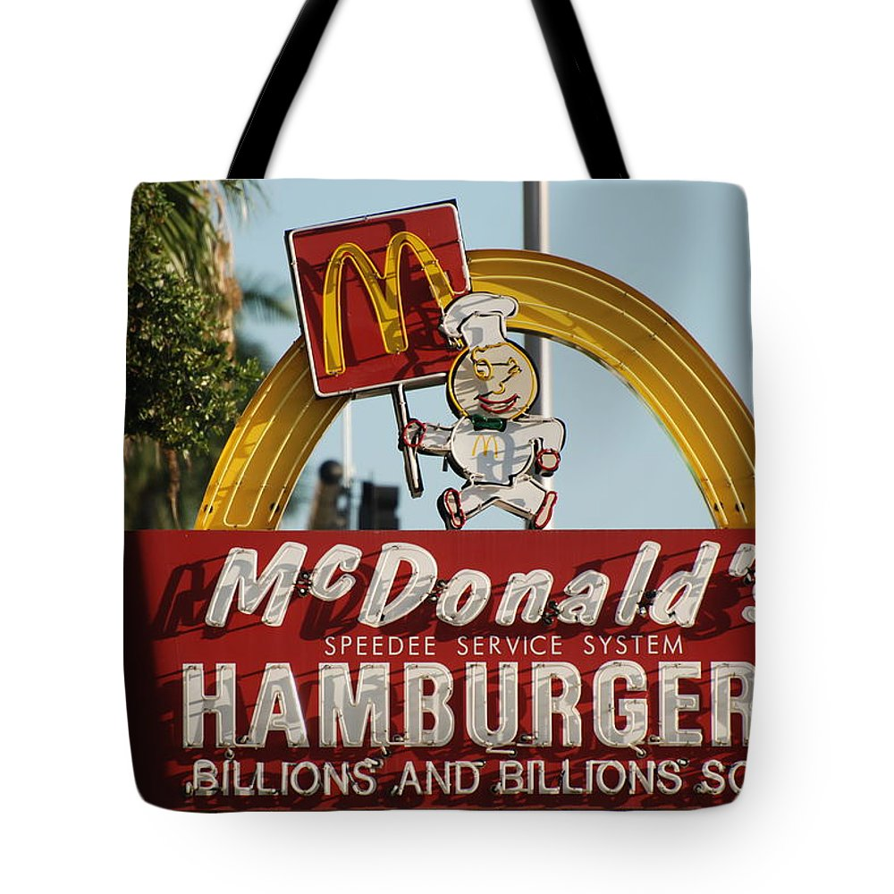 Mcdonalds Tote Bag featuring the photograph Mc Donalds by Rob Hans