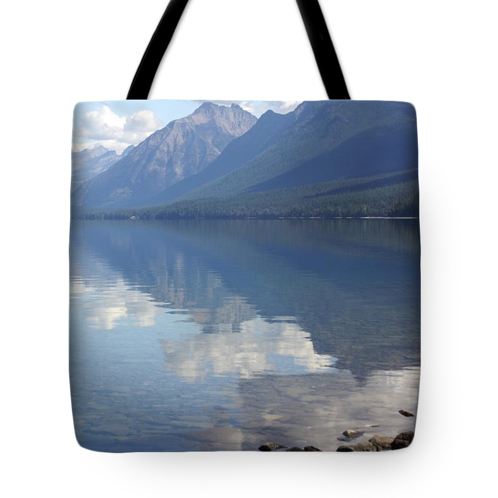 Lake Mcdonald Tote Bag featuring the photograph Mcdonald Reflection by Marty Koch