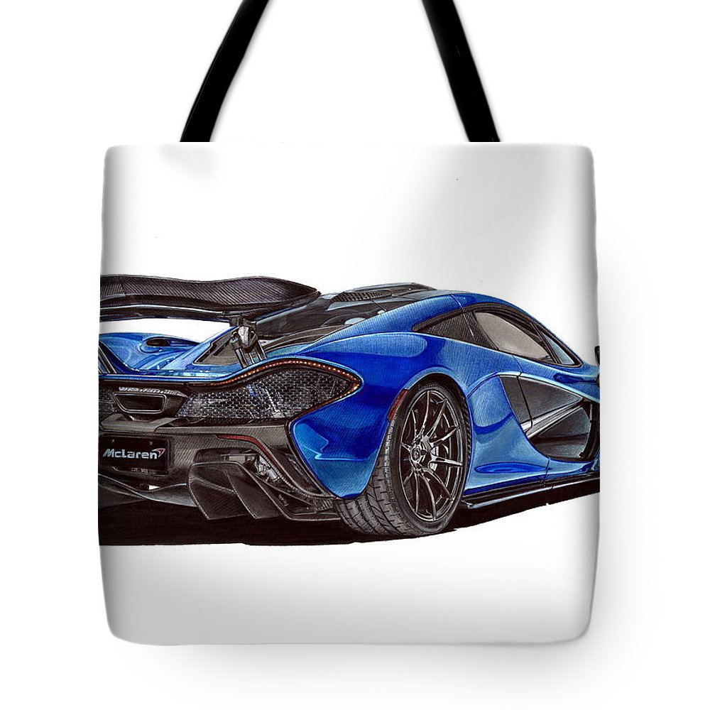 mclaren p1 blue carbon tote bag for saletomasz boguslawski