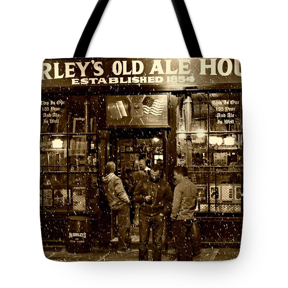 Mcsorley's Old Ale House Tote Bag featuring the photograph Mcsorley's Old Ale House by Randy Aveille