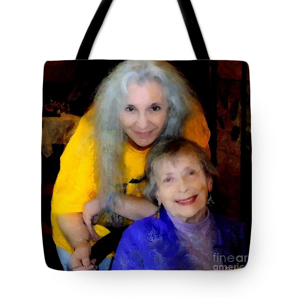 Colorful Tote Bag featuring the painting Me And B by RC DeWinter
