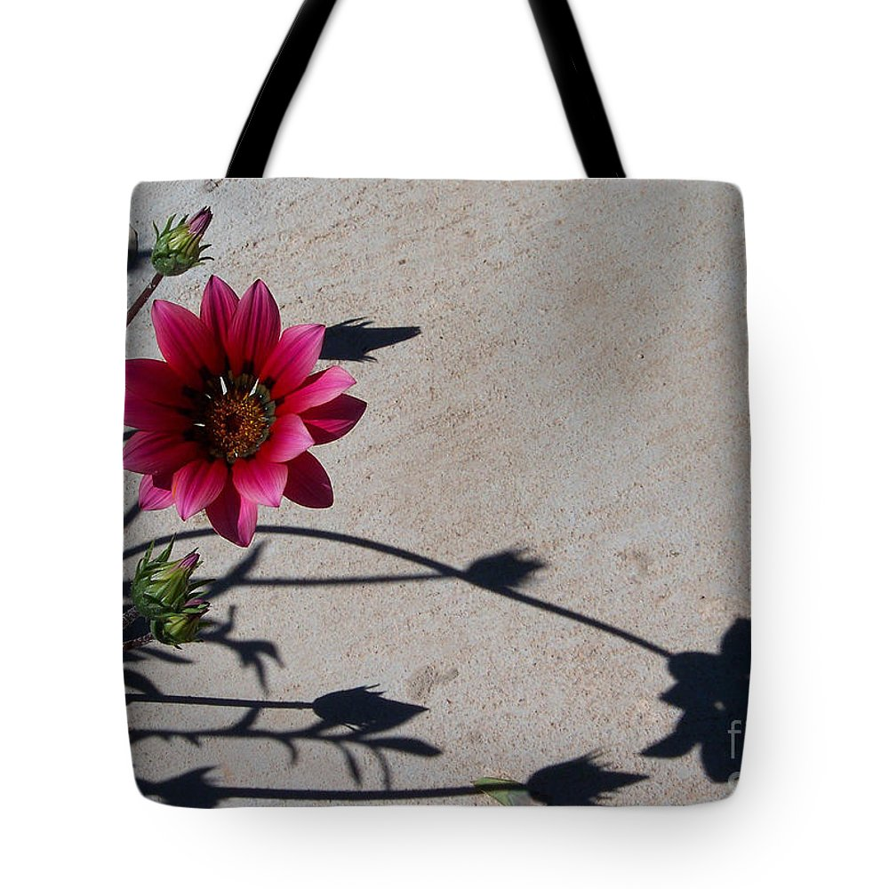 Flowers Tote Bag featuring the photograph Me And My Shadow by Kathy McClure