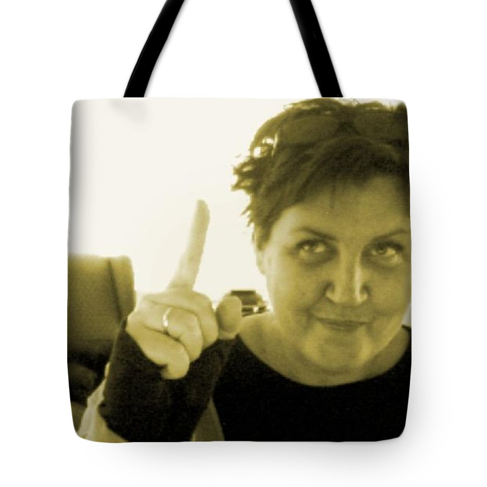 Tote Bag featuring the pyrography me by Veronica Jackson