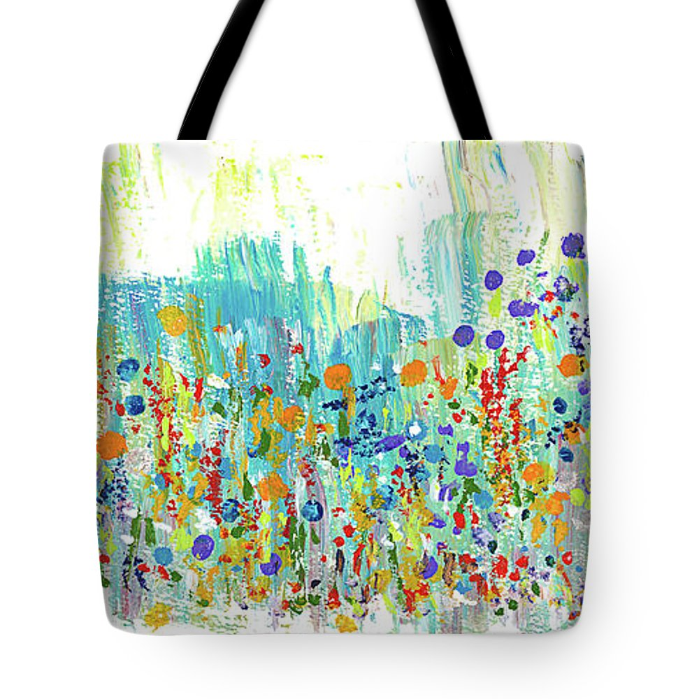Painting Tote Bag featuring the painting Meadow by Bjorn Sjogren