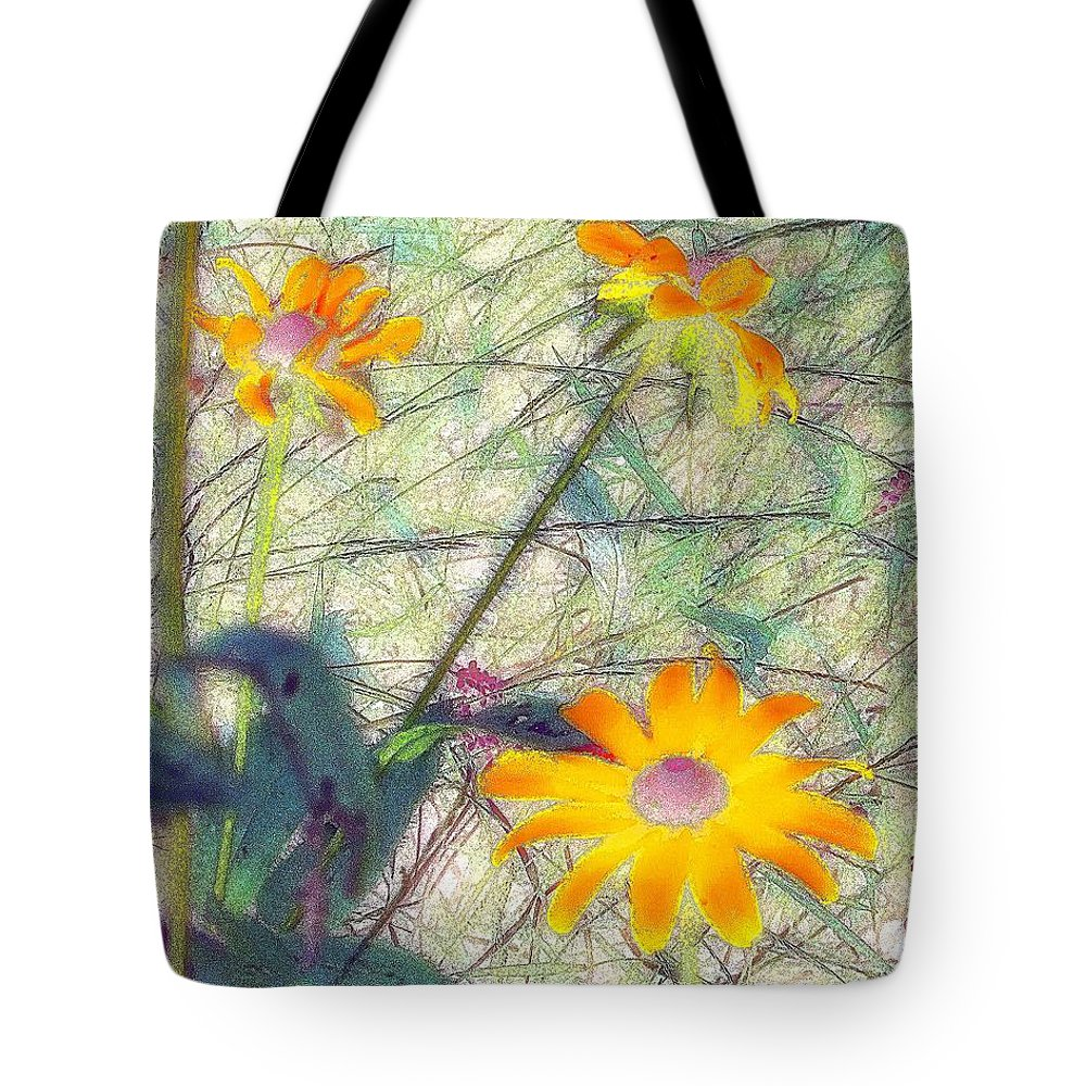 Bright Tote Bag featuring the painting Meadow Out Loud by RC DeWinter