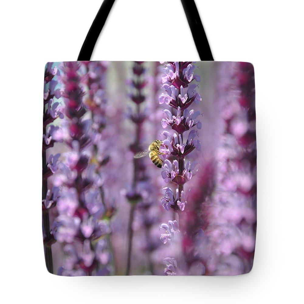 Flower Tote Bag featuring the photograph Meadow Sage by Rich Bodane