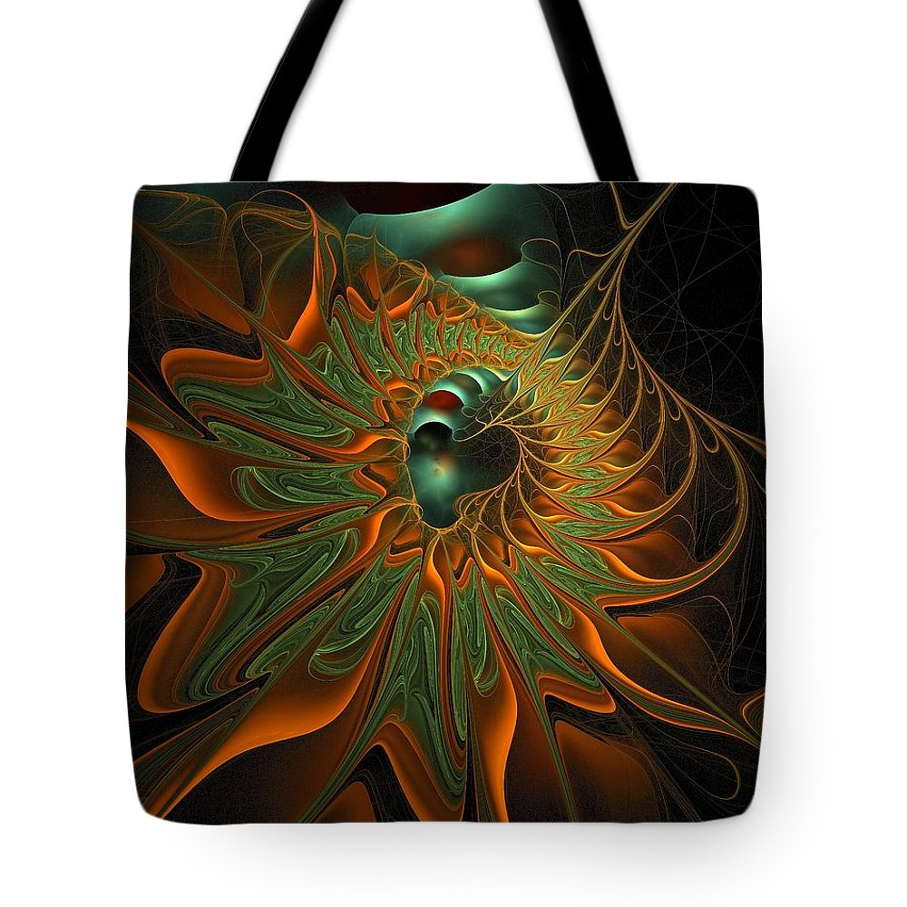 Digital Art Tote Bag featuring the digital art Meandering by Amanda Moore