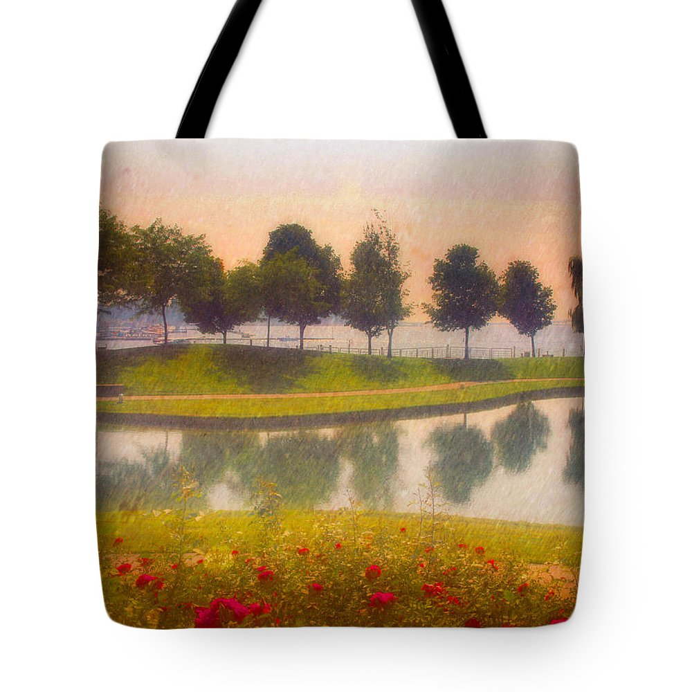 Trees Tote Bag featuring the photograph Measured Reflections by Tara Turner