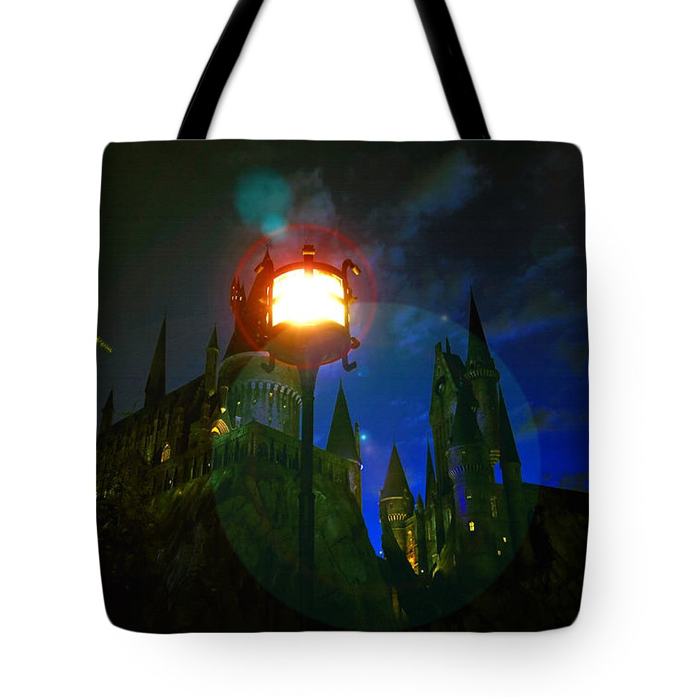 Art Tote Bag featuring the painting Medieval Night by David Lee Thompson