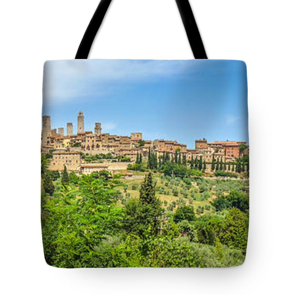 Ancient Tote Bag featuring the photograph Medieval Town Of San Gimignano, Tuscany, Italy by JR Photography