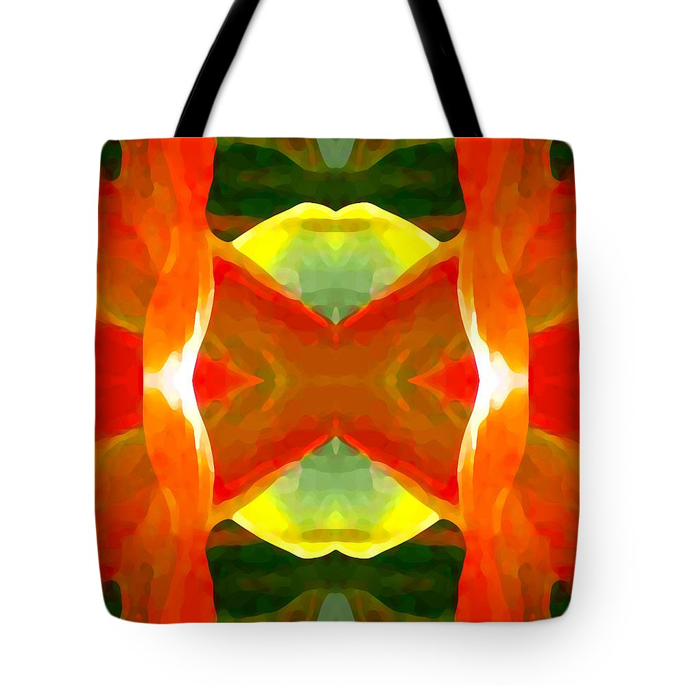 Abstract Tote Bag featuring the painting Meditation by Amy Vangsgard