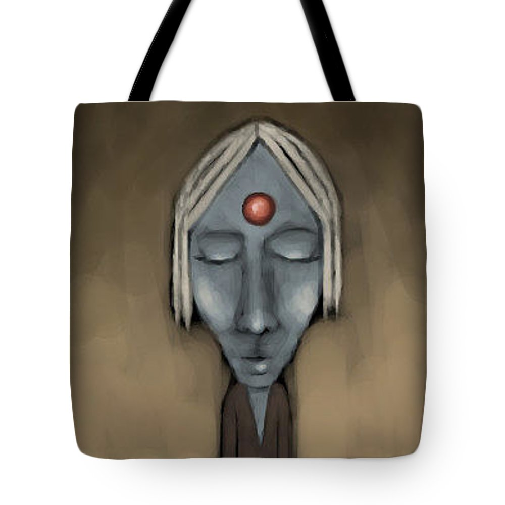Strange Tote Bag featuring the digital art Meditation by Lori Wadleigh