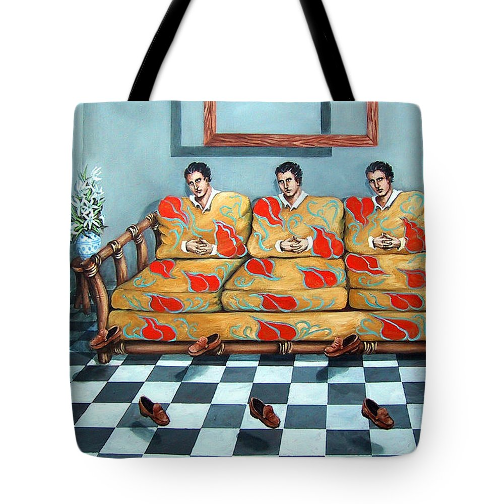 S Tote Bag featuring the painting Meditation by Valerie Vescovi