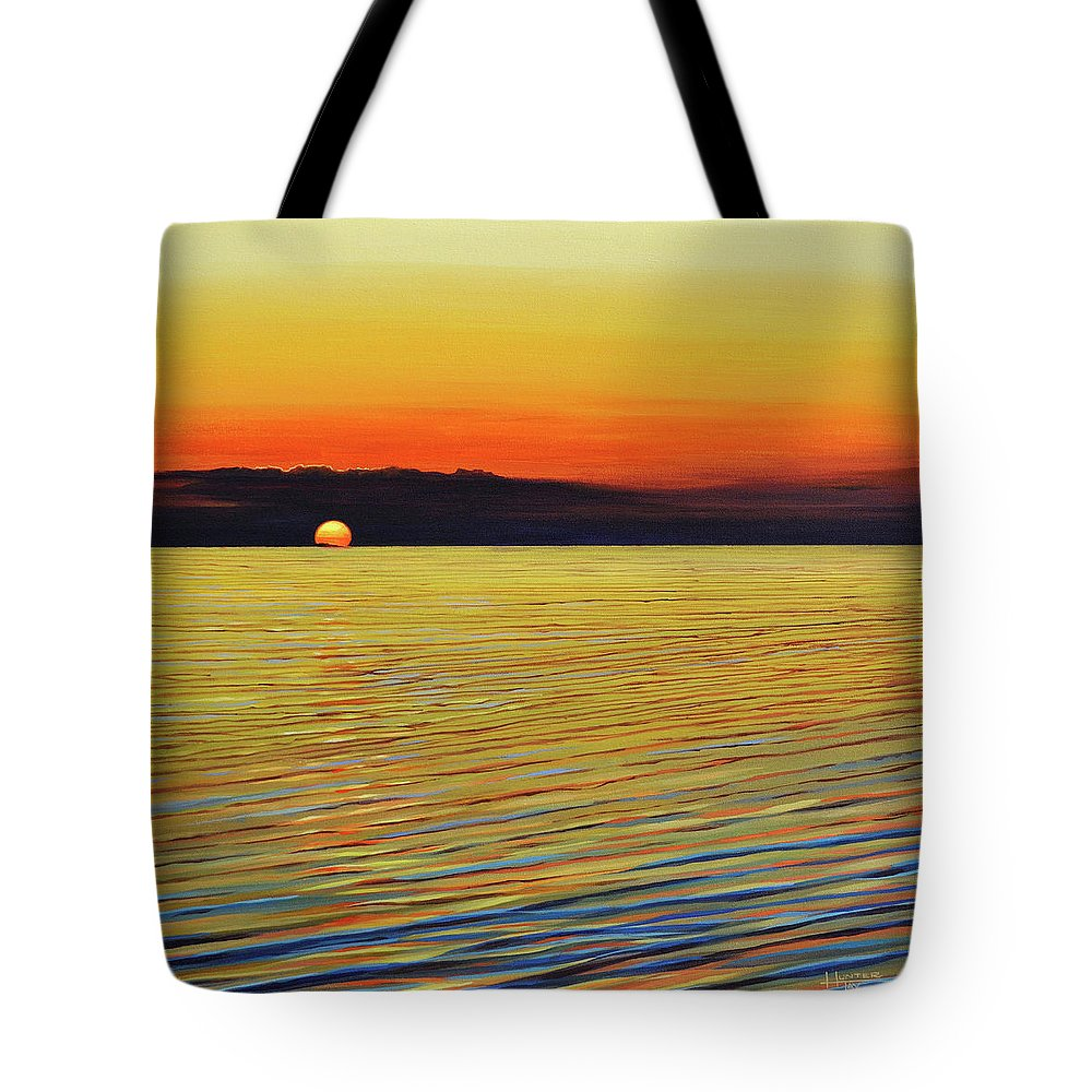 Mediterranean Tote Bag featuring the painting Mediterranea by Hunter Jay