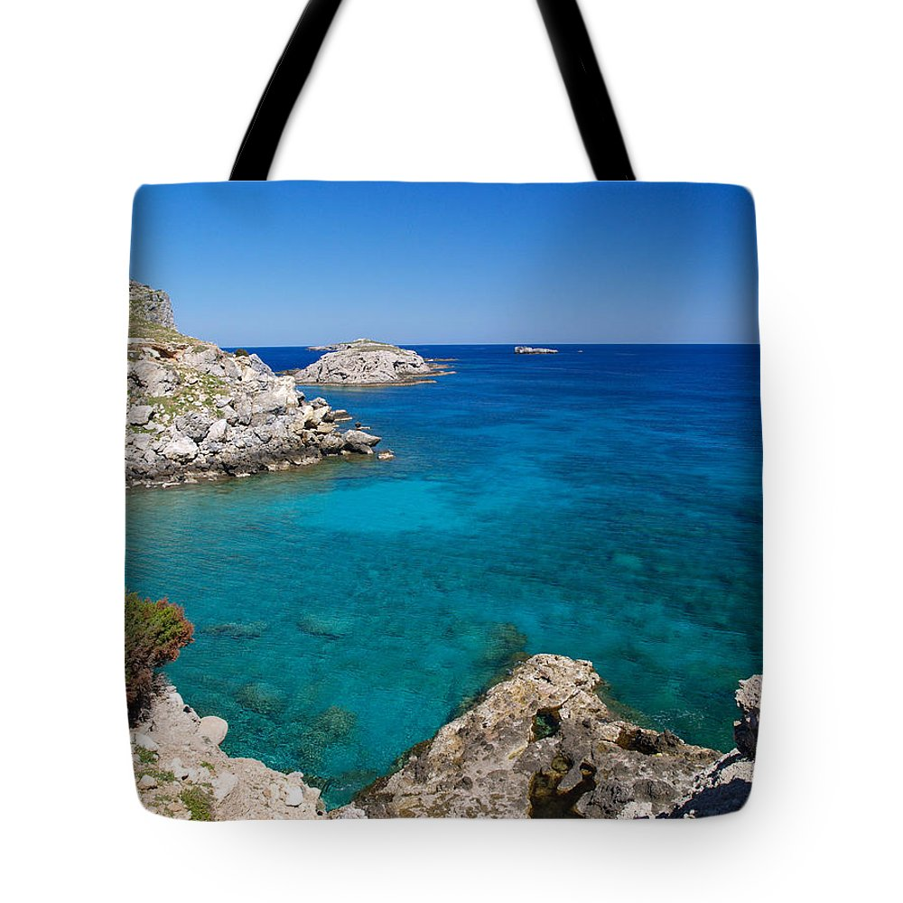 Landscape Tote Bag featuring the photograph Mediterranean Blue by Alex Cassels