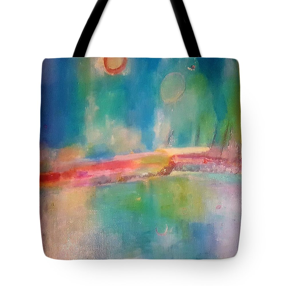 Abstract Tote Bag featuring the painting Mediterranean Dream by Patricia Byron