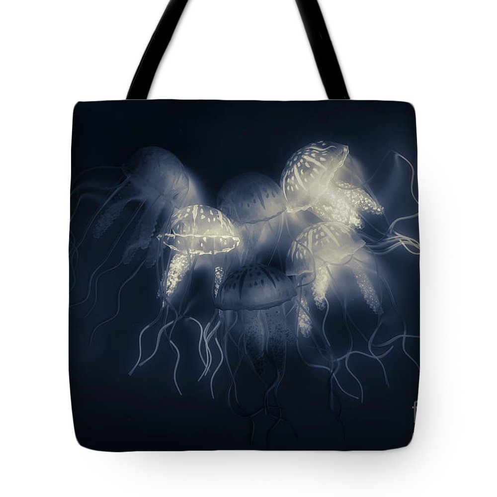 Marine Tote Bag featuring the photograph Medusas Light by Jorgo Photography - Wall Art Gallery