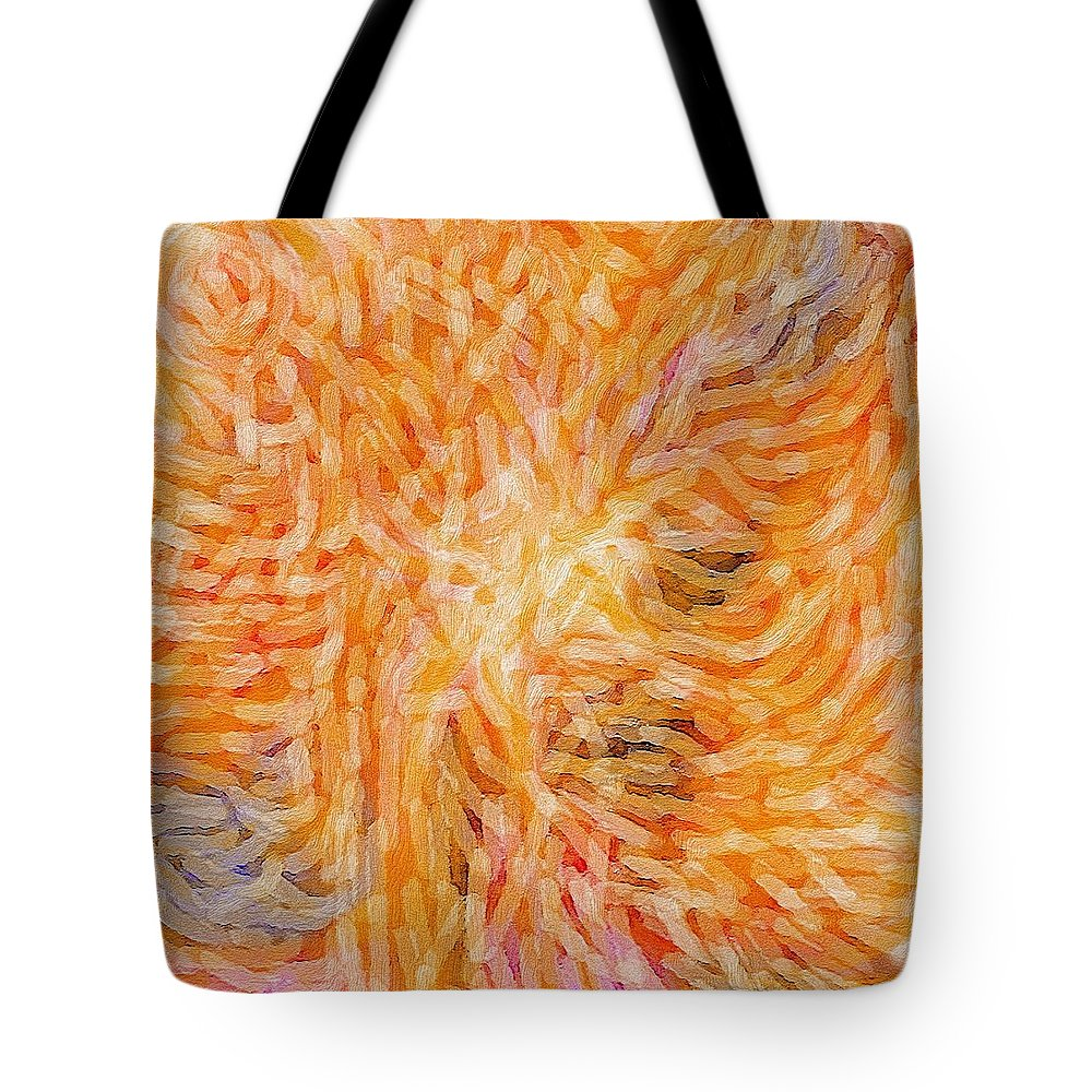 Judith Chantler Tote Bag featuring the digital art Meeting On High by Judith Chantler