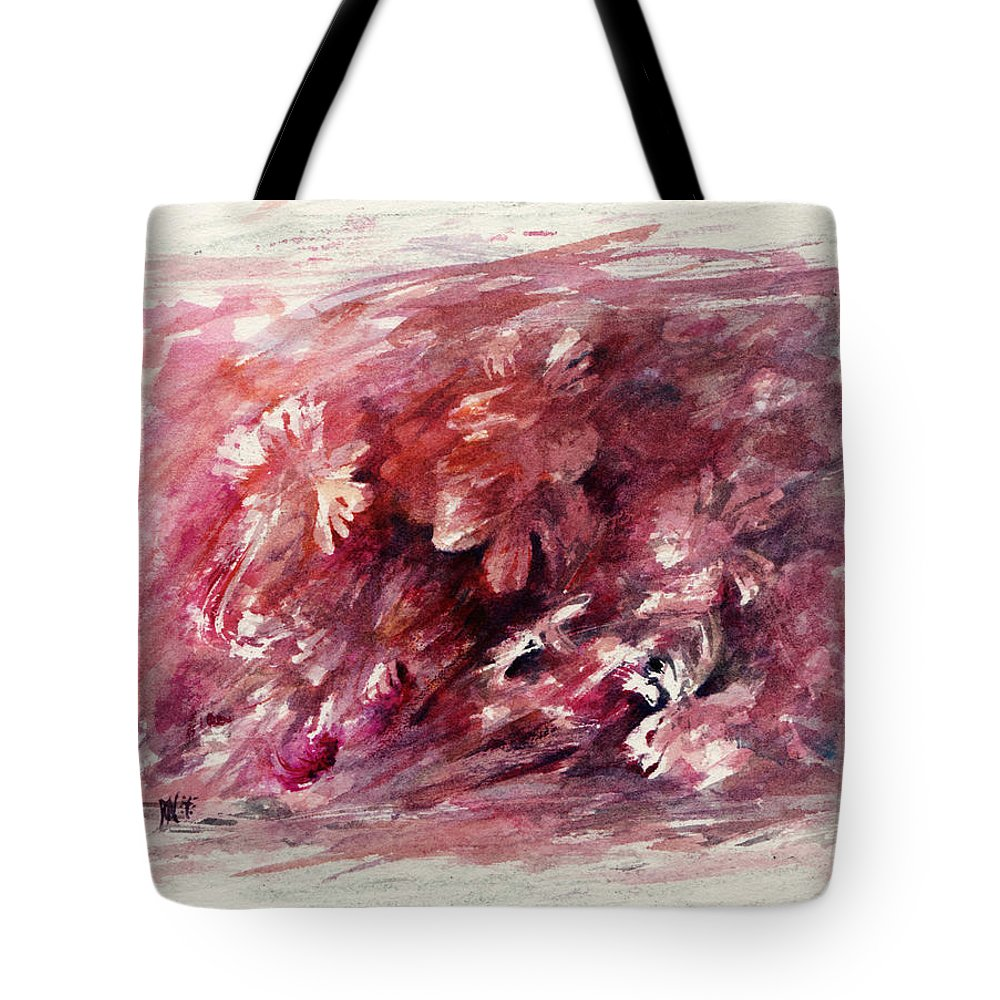 Floral Tote Bag featuring the painting Melancholic Moment by Rachel Christine Nowicki