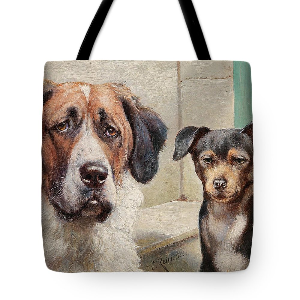 Carl Reichert Tote Bag featuring the painting Melancholic, Phlegmatic by Carl Reichert