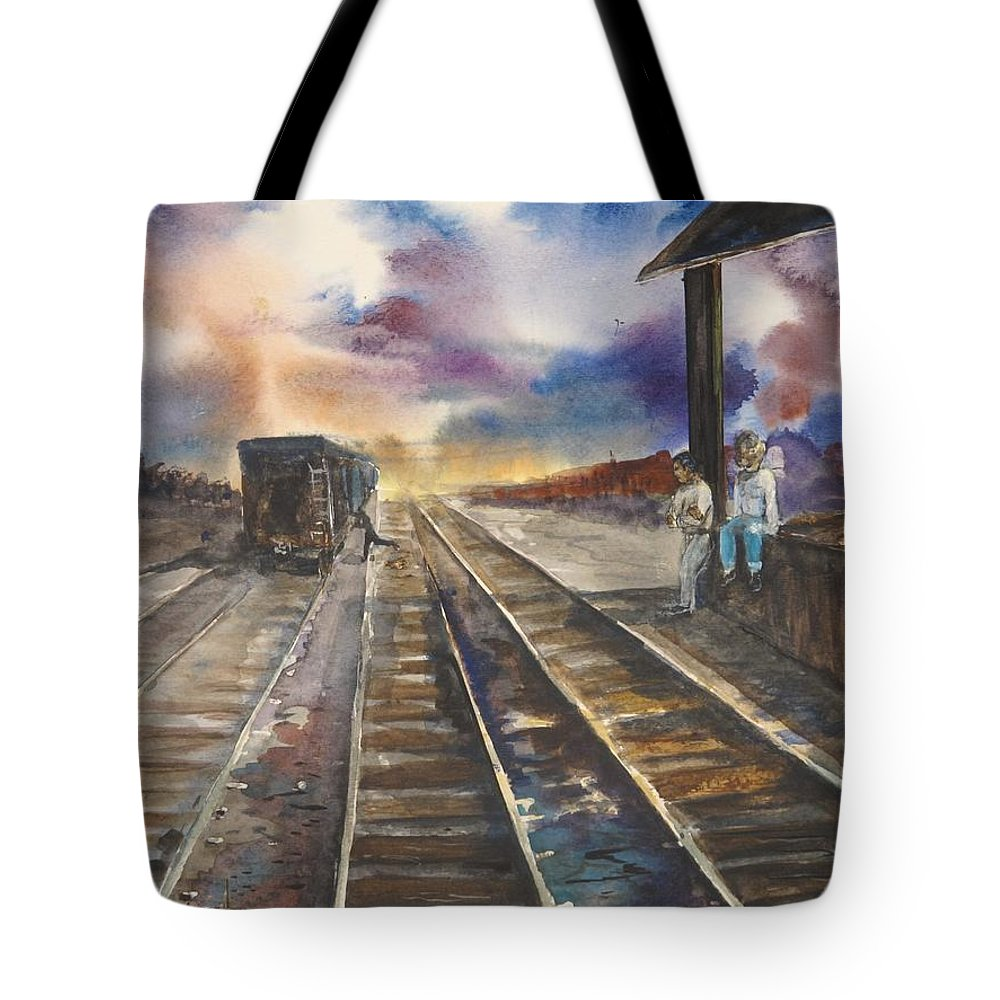 Blues Tote Bag featuring the painting Melancholy Evening by Don Seib