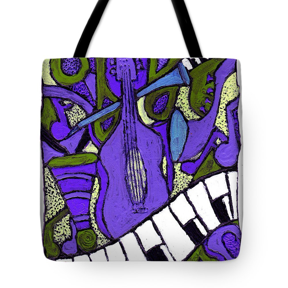 Jazz Tote Bag featuring the painting Melllow Jazz by Wayne Potrafka