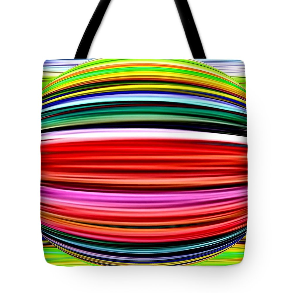 Abstract Tote Bag featuring the digital art Melon Mania by Will Borden