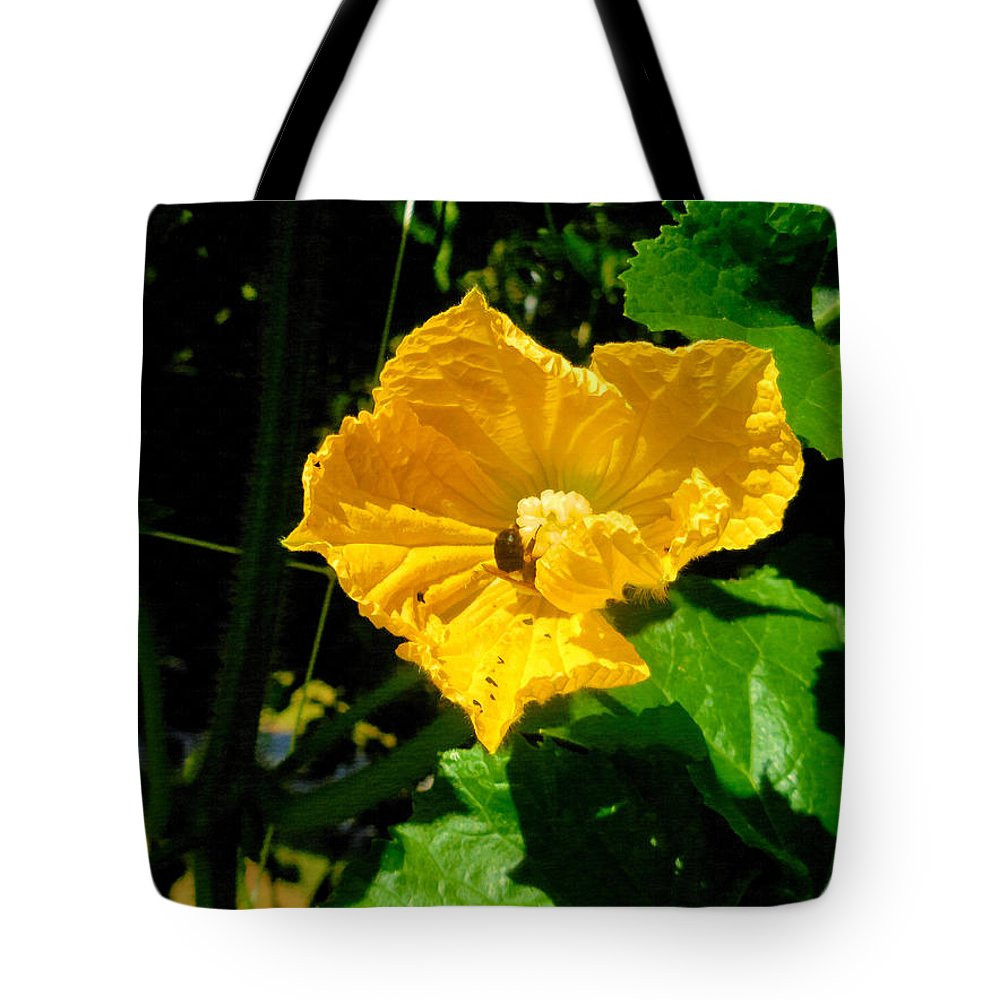 Melon's Flower Tote Bag featuring the painting Melon's Flower 12 by Jeelan Clark