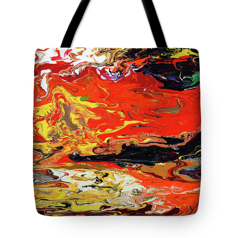 Fusionart Tote Bag featuring the painting Melt by Ralph White