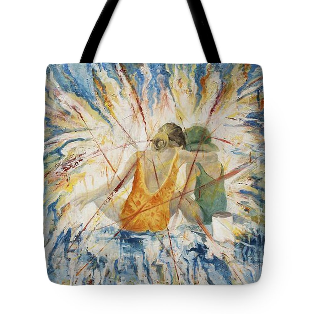 Children Tote Bag featuring the painting Meltdown by Connie Freid