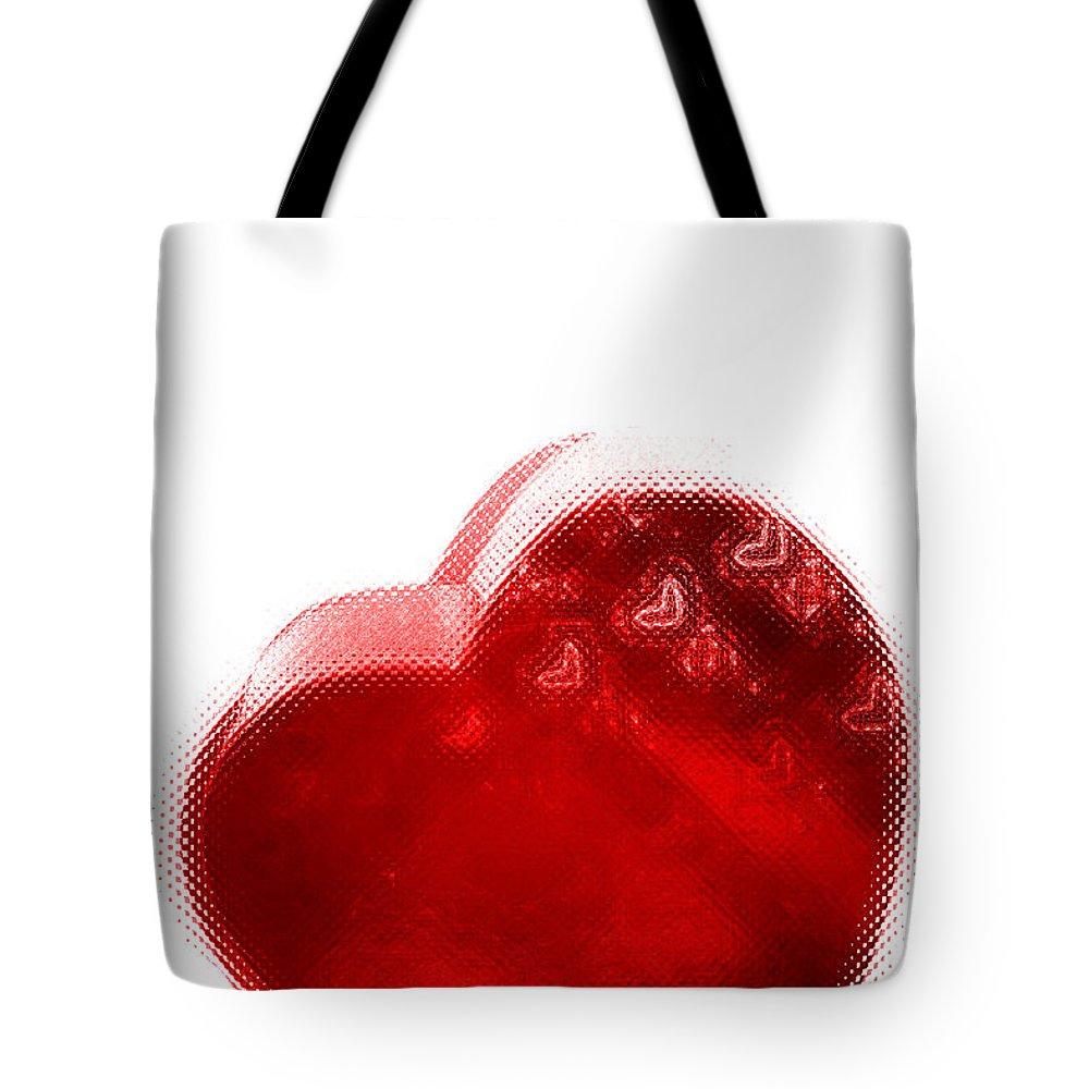Hearts Tote Bag featuring the digital art Melting Heart by Linda Sannuti