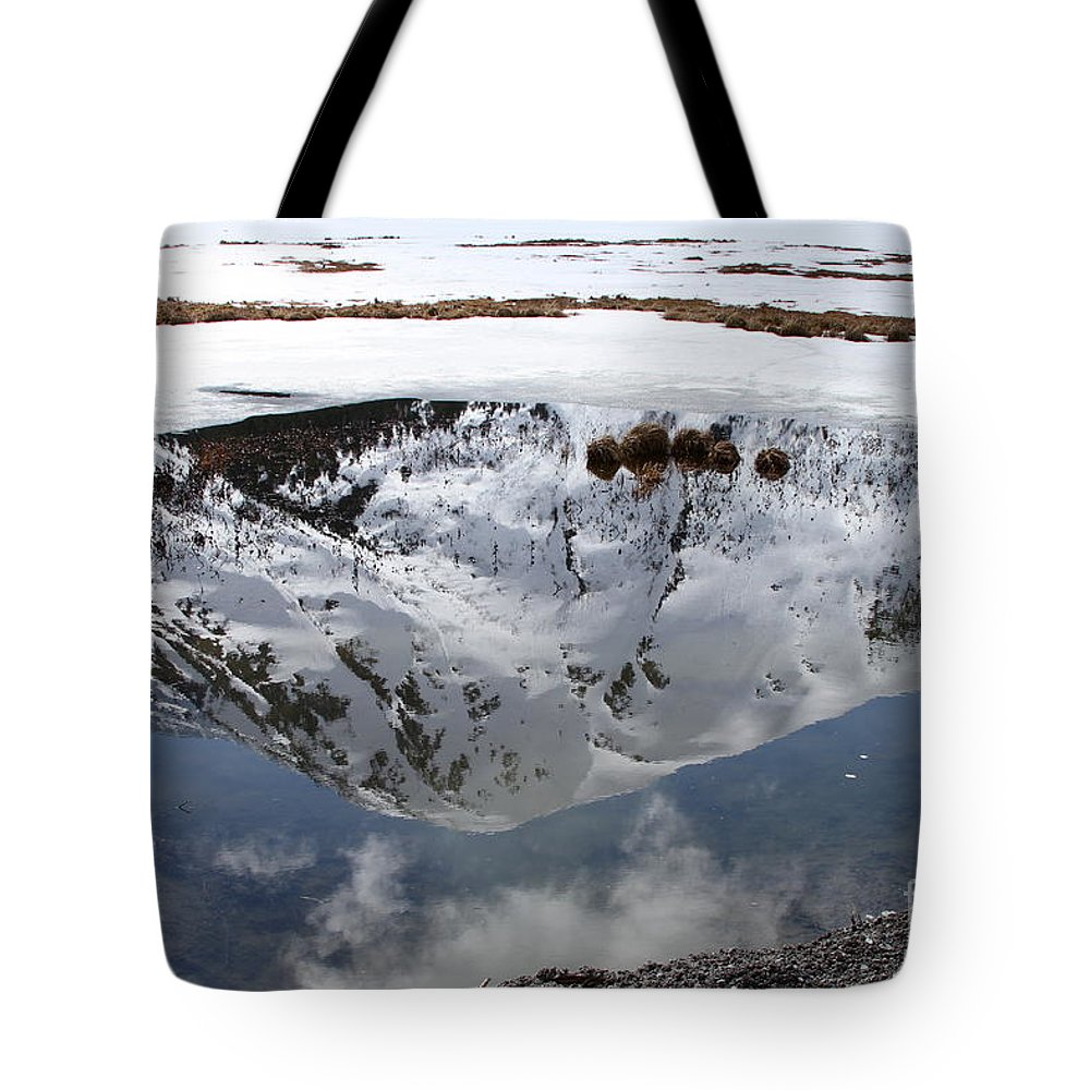 Water Tote Bag featuring the photograph Melting View by Rick Monyahan