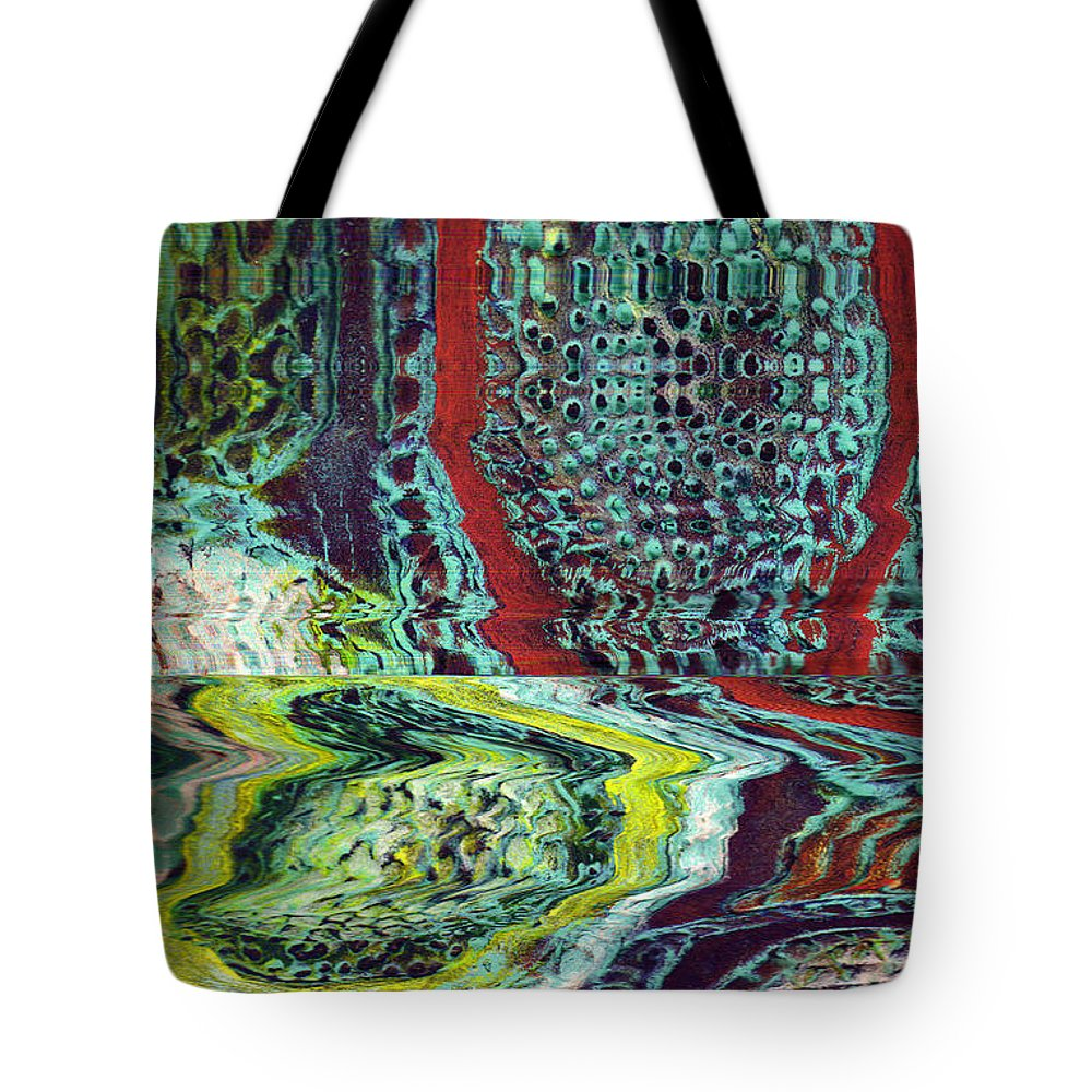 Abstract Tote Bag featuring the painting Melting by Wayne Potrafka