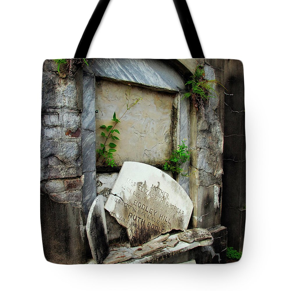 Tomb Tote Bag featuring the photograph Memorable Pieces by Kathleen K Parker