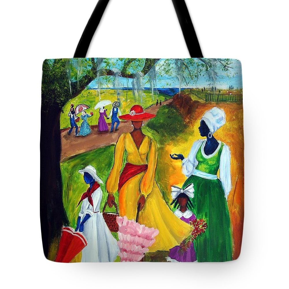 Gullah Tote Bag featuring the painting Memorial Day by Diane Britton Dunham