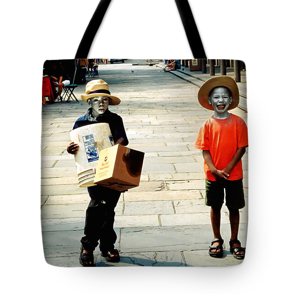 Big Easy Tote Bag featuring the photograph Memories Of A Better Time The Children Of New Orleans by Christine Till
