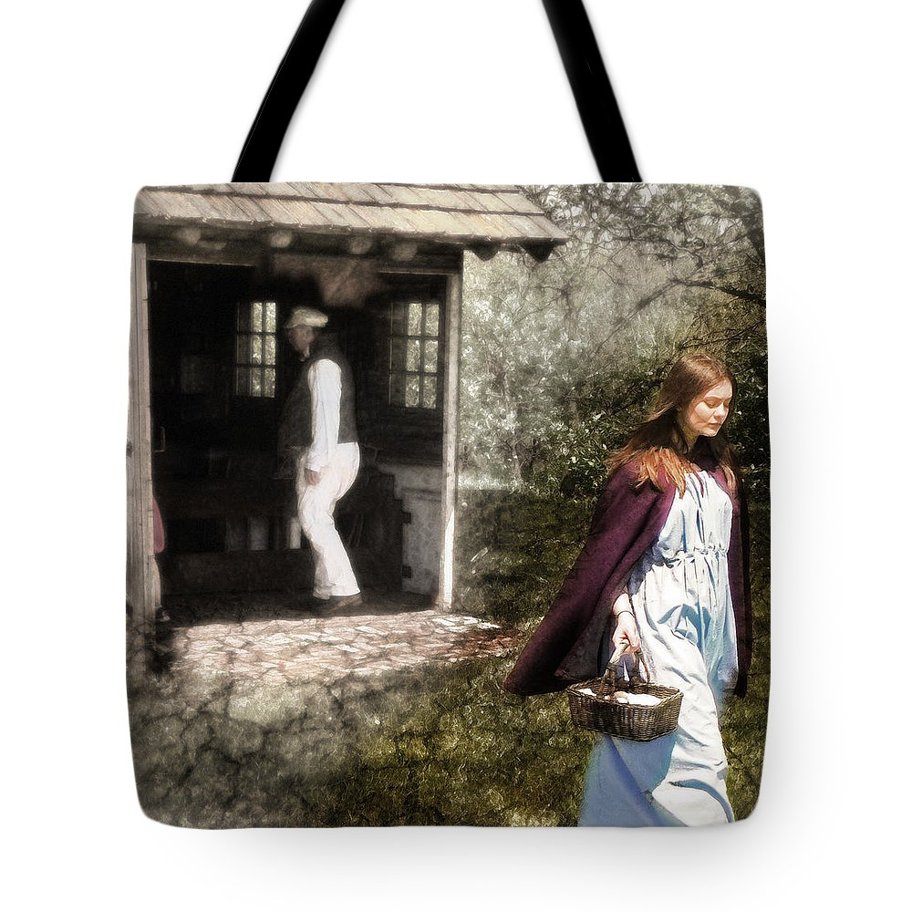 Digital Art Tote Bag featuring the photograph Memories Of Home by John Anderson