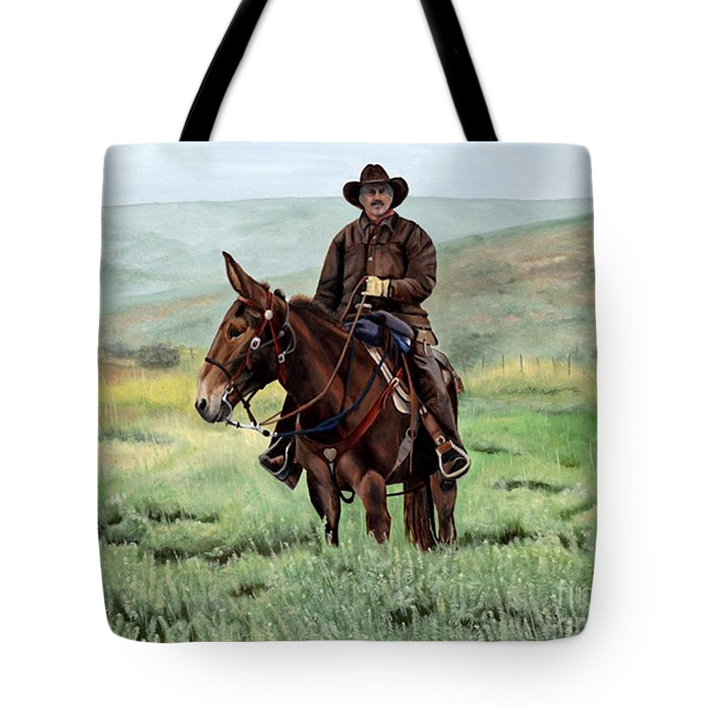 Usa Tote Bag featuring the painting Memories Of Molly by Mary Rogers
