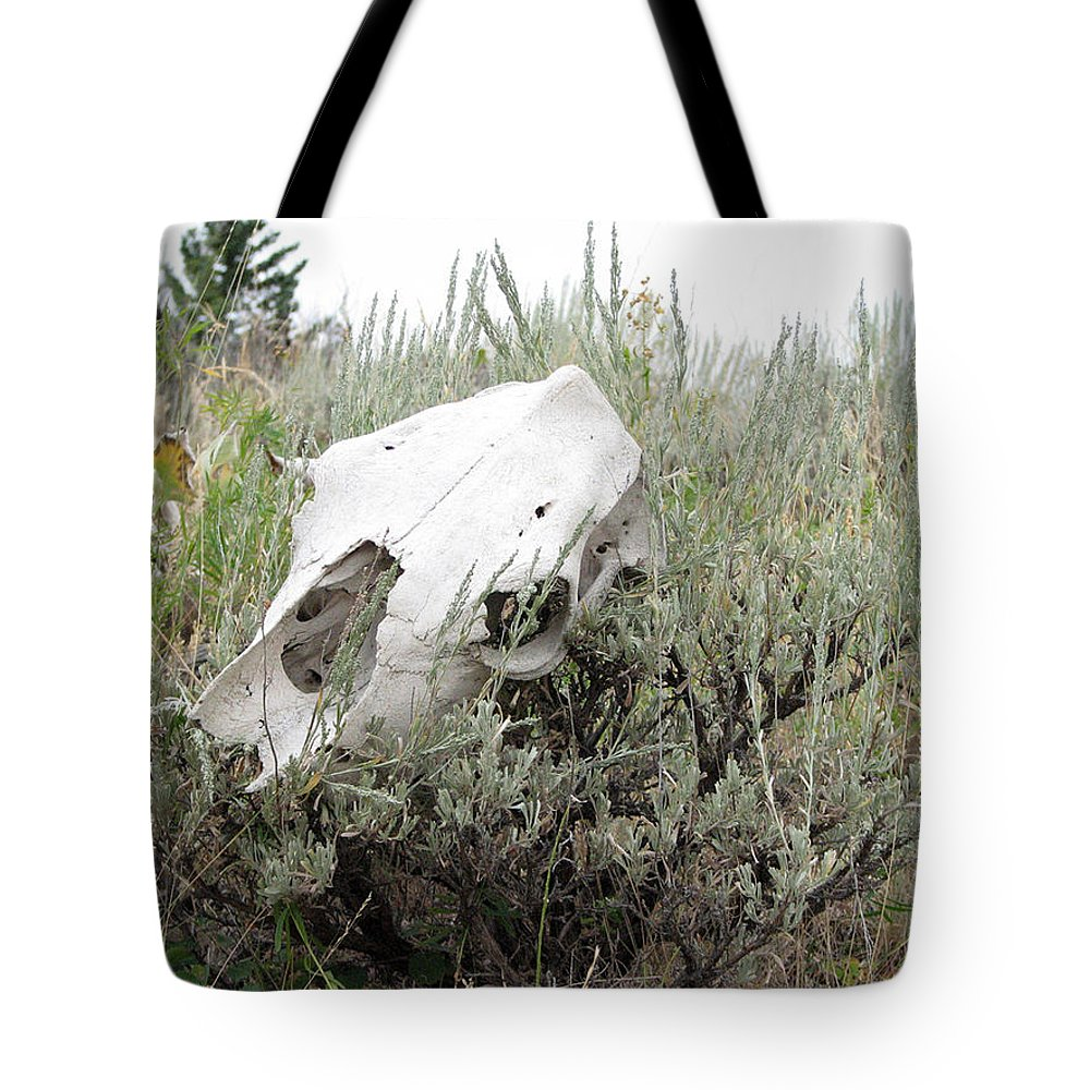 Steer Tote Bag featuring the photograph Memories Past by Stacey May